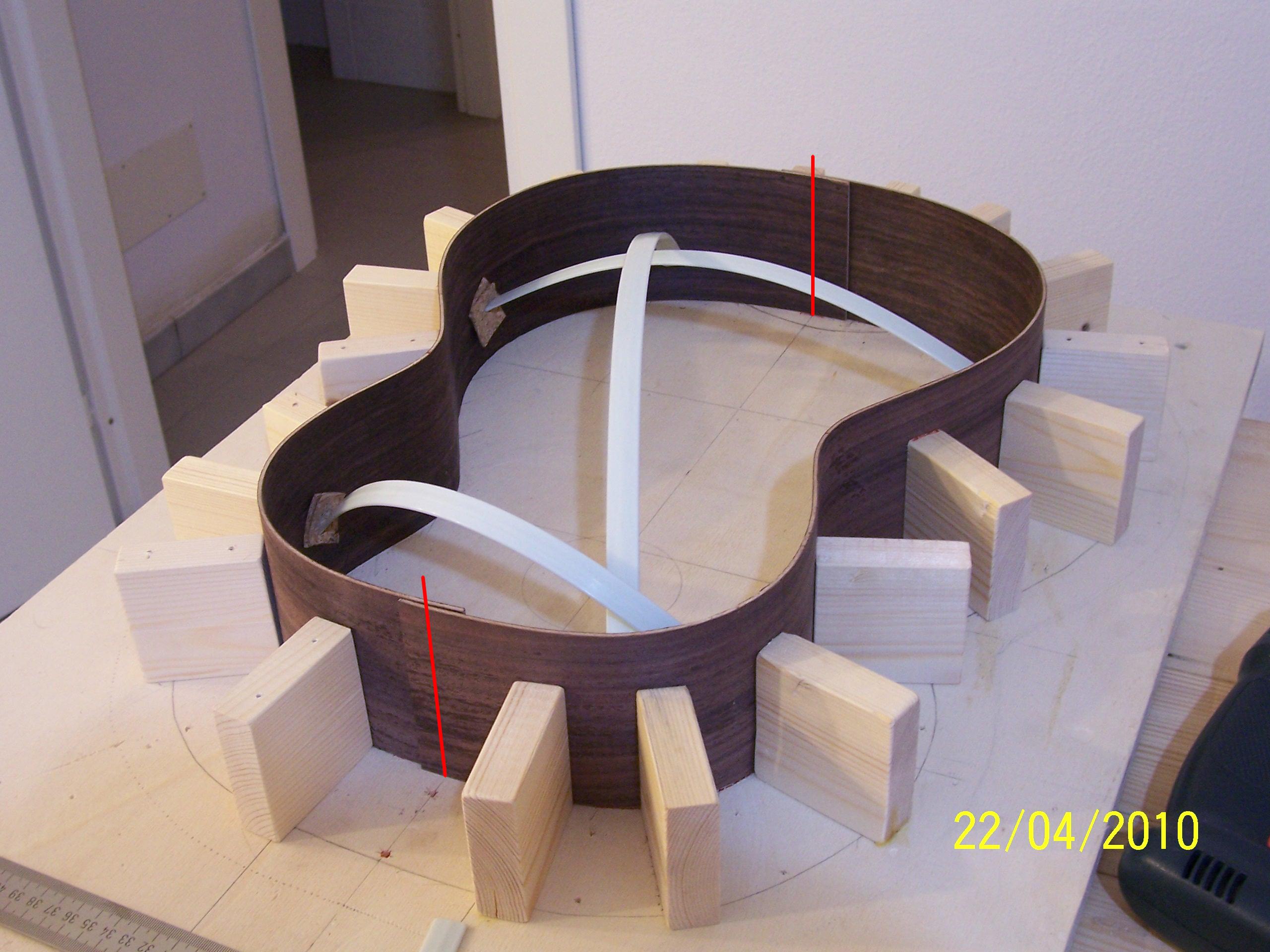 Preparazione fasce del kit liutaio fai da te for Dima per spine legno fai da te